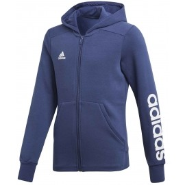 adidas ESSENTIALS MID 3-STRIPES FULL ZIP HOODIE