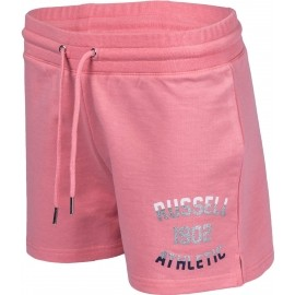 Russell Athletic SHORTS WITH MIXED DUAL TECHNIQUE PRINT - Dámské šortky