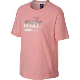 Nike SPOSTSWEAR TOP CROP METALLIC - Dámské tričko