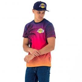 New Era NE NBA LOS ANGELES LAKERS COASTAL HEAT TEE - Pánské tričko