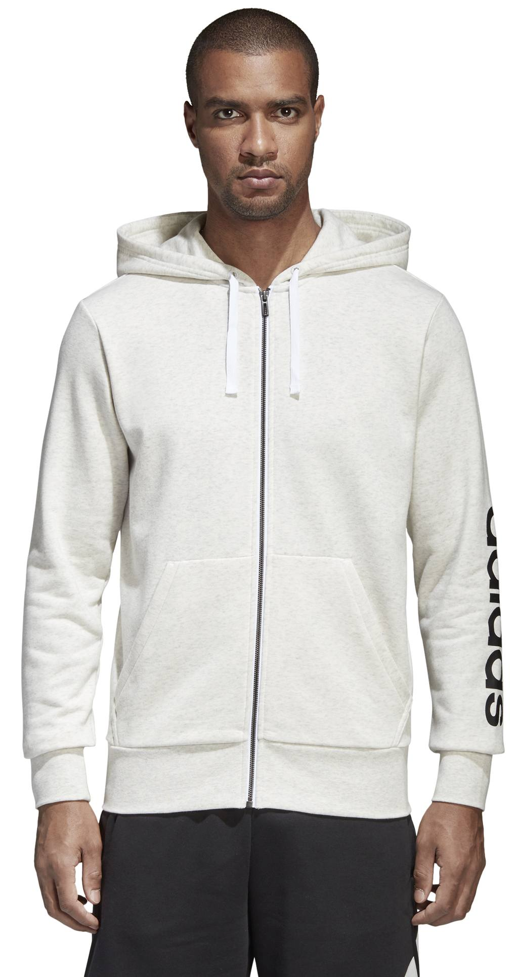 c2da6c2f1c12 adidas ESSENTIALS LINEAR FULL-ZIP HOOD FRENCH TERRY