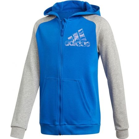 Chlapecká mikina - adidas COMMERCIAL PACK FULL ZIP HOODIE - 1