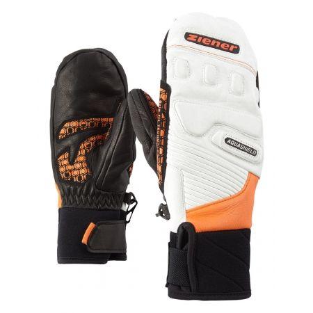 Ziener LISORO AS MITTEN JUNIOR ORANGE - Dětské lyžařské rukavice