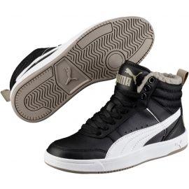 Puma REBOUND STREET V2 FUR JR - Dětská zimní obuv