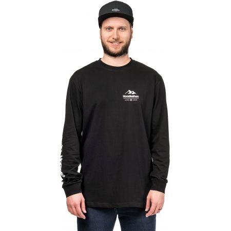 Pánské triko s dlouhým rukávem - Horsefeathers KENT LS T-SHIRT - 1