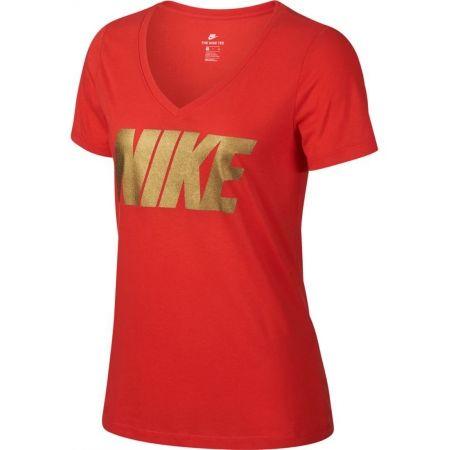 Dámské triko - Nike NSW TEE NIKE MTLC BLOCK - 1