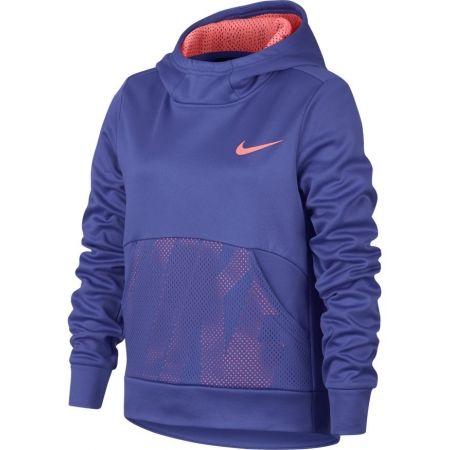 Dívčí sportovní mikina - Nike NK THERMA HOODIE PO ENERGY - 1