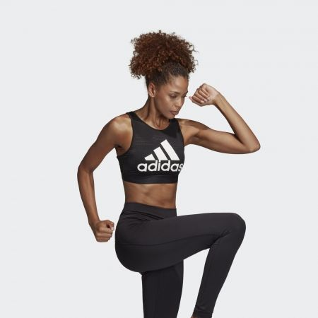 Dámská sportovní podprsenka - adidas HALTER 2.0 LOGO - 5