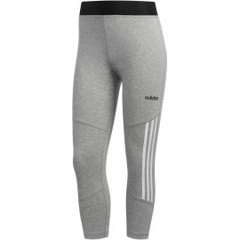 adidas D2M COTTON HI-RISE 3STRIPE 3/4 TIGHT