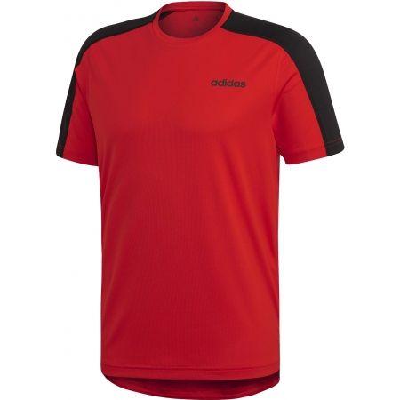 Pánské tričko - adidas DESIGN2MOVE TEE PLAIN - 1
