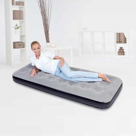 FLOCKED AIR - Nafukovací postel - jednolůžko - Bestway FLOCKED AIR