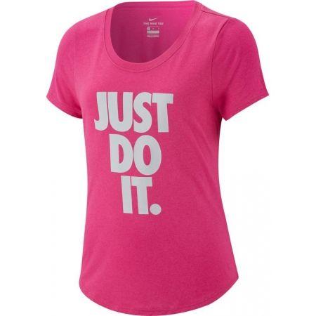 Nike TEE LEG SCOOP JDI - Dívčí sportovní triko