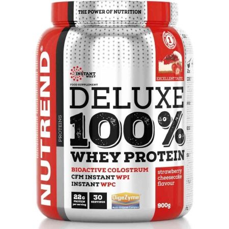 Protein - Nutrend DELUXE 100% WHEY 2250G JAHODOVÝ CHEESECAKE
