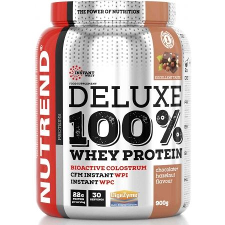 Protein - Nutrend DELUXE 100% WHEY 900G ČOKOLÁDA + LÍSKOVÝ OŘECH