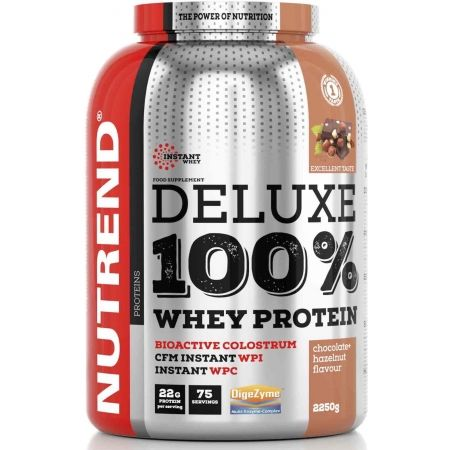 Nutrend DELUXE 100% WHEY 2250G ČOKOLÁDA + LÍSKOVÝ OŘECH - Protein