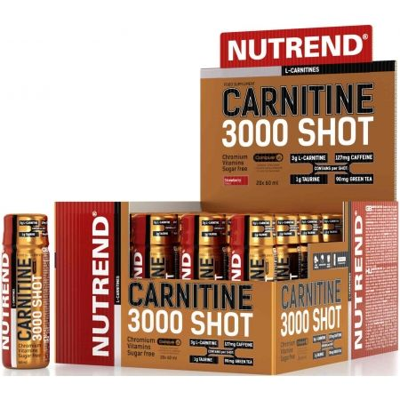 Nutrend CARNITINE 3000 SHOT JAHODA - L -carnitine