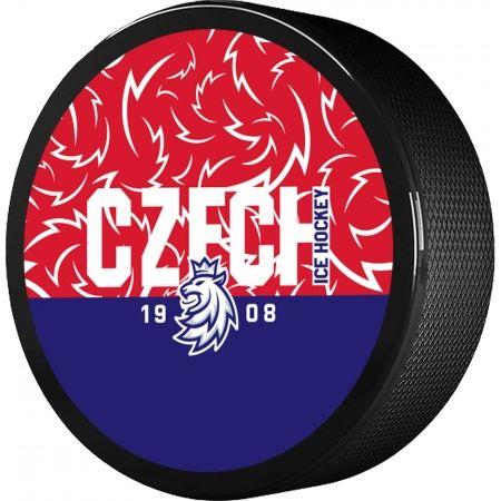Střída NAPIS CZECH V PATTERNU CIHT - Hokejový puk