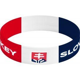 Střída NARAMOK SIROKY SLOVAKIA HOCKEY - Silikonový náramek