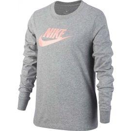 Nike NSW TEE LS ESSNT FUTURA HOOK - Dívčí tričko