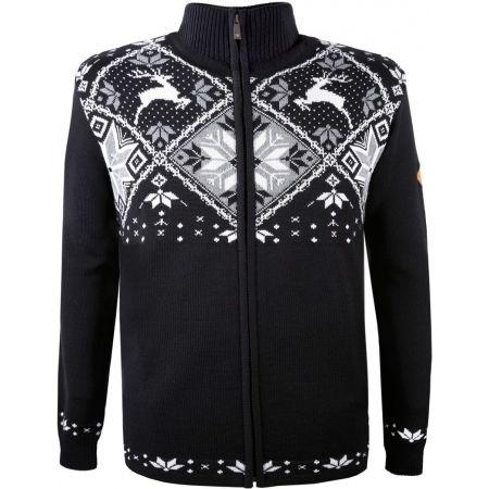 Kama MERINO SVETR 4055 - Celopropínací pletený svetr