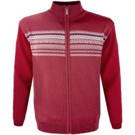 Kama MERINO SVETR 4106 - Celorozepínací tenký pánský svetr