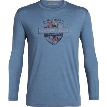 Icebreaker SPECTOR LS CREWE ALPINE CREST - Pánské triko na denní nošení
