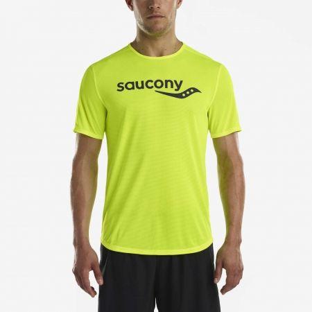 Pánské běžecké triko - Saucony SHORT SLEEVE VIZIPRO CI - 1