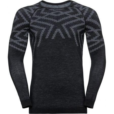 Odlo SUW MEN'S TOP L/S CREW NECK NATURAL+ KINSHIP WARM - Pánské triko