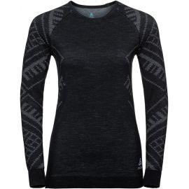 Odlo SUW WOMEN'S TOP L/S CREW NECK NATURAL+ KINSHIP WARM - Dámské triko