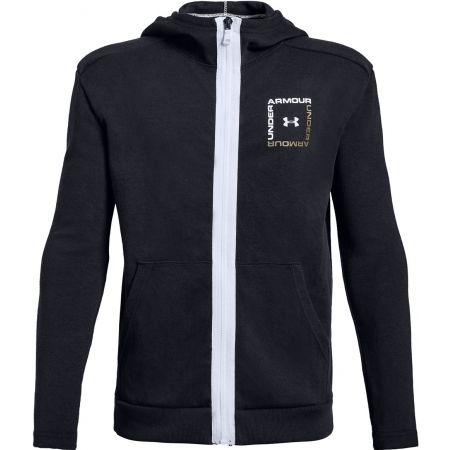 Under Armour UNSTOPPABLE DOUBLE KNIT FULL ZIP - Chlapecká mikina
