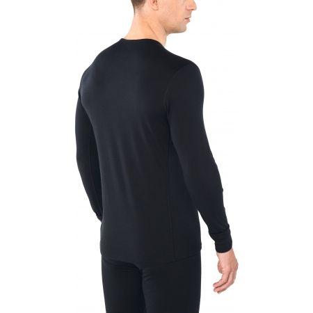 Funkční triko z merina - Icebreaker OASIS LS CREWE SINGLE LINE SKI - 3