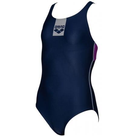 Arena G BASICS JR SWIM PRO BACK ONE PIECE - Dívčí jednodílné plavky