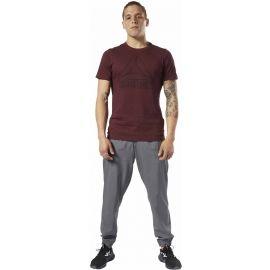 Reebok TE MARBLE MELANGE BIG LOGO TEE - Pánské tričko