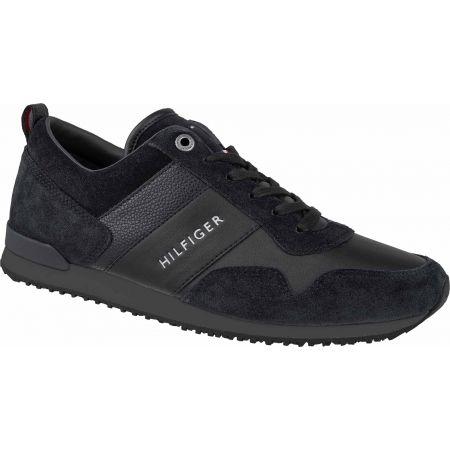 Tommy Hilfiger ICONIC LEATHER SUEDE MIX RUNNER - Pánská volnočasová obuv