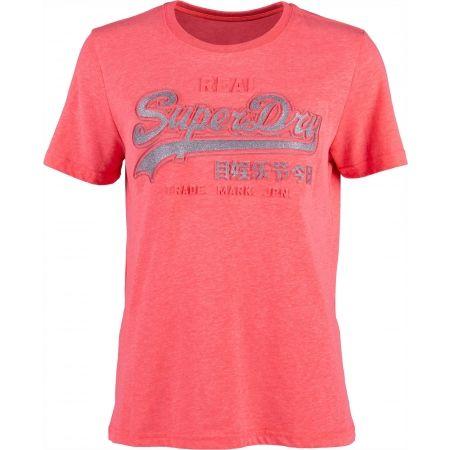 Superdry PINK LOGO - Dámské tričko