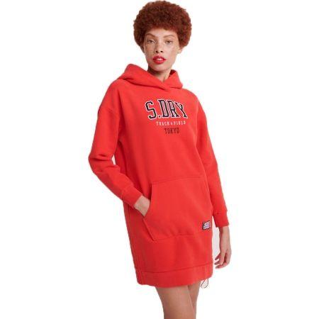 Superdry TRACK&FIELD STATEMENT BACK SWEAT DRESS - Dámské šaty
