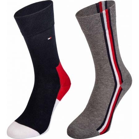 Tommy Hilfiger MEN ICONIC HIDDEN SOCK 2P - Pánské ponožky
