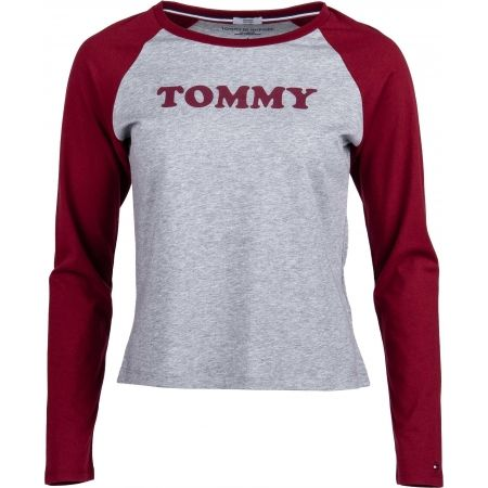 Tommy Hilfiger LS TEE SLOGAN - Dámské triko s dlouhým rukávem