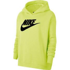 Nike NSW ICN CLSH FLC HOODIE PLUS W - Dámská mikina