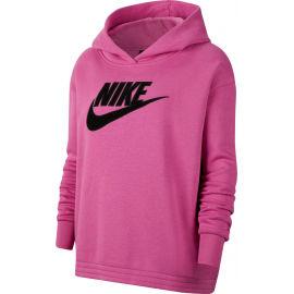 Nike NSW ICN CLSH FLC HOODIE PLUS W - Dámská mikina plus size