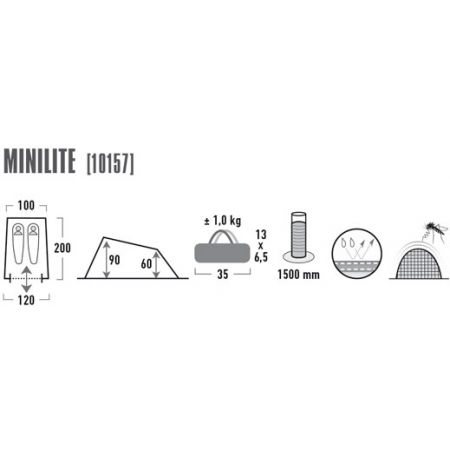 Turistický stan - High Peak MINILITE - 6