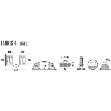 Rodinný stan - High Peak TAURIS 4 - 7