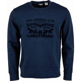 Levi's GRAPHIC CREW B LOGO SSNL CREW MINERAL BL - Pánská mikina