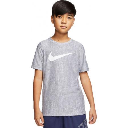Chlapecké tréninkové tričko - Nike CORE SS PERF TOP HTHR B - 1